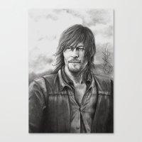 daryl dixon Canvas Prints featuring Daryl Dixon by Megan Halvorson
