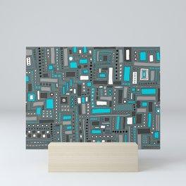 Turquoise Dream (Pattern) Mini Art Print