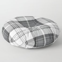 Black & White Tartan Floor Pillow