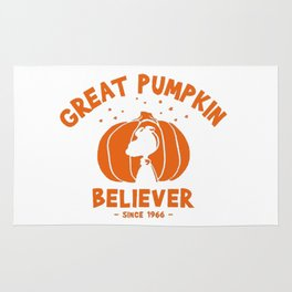 Great pumpkin Believer snoopy and charlie brown Rug