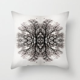 Winter Storm Ink Blot Throw Pillow