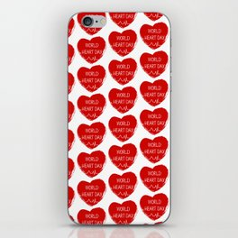 World heart day iPhone Skin
