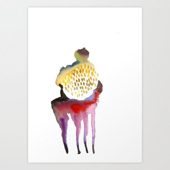 Why horses don't sweat, but I do? Art Print