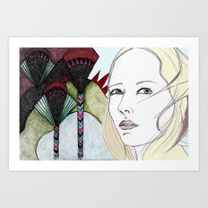 Art Deco Glance Art Print