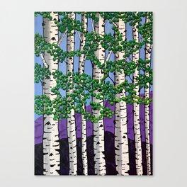 Summer aspens Canvas Print
