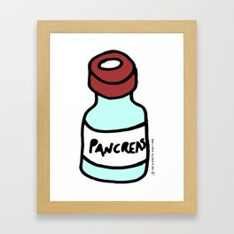 Diabetes: Diabetic Vial Pancreas Framed Art Print