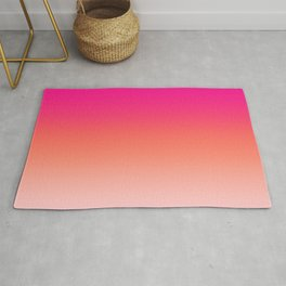 Gradient Ombre Living Coral Millennial Plastic Pink Pattern Peachy Orange Soft Trendy Cute Texture Rug