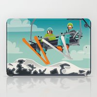 ski iPad Cases featuring Ski Lift by Park City Posters