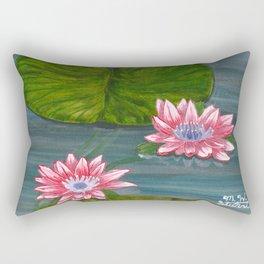Water Lilies 2 Rectangular Pillow