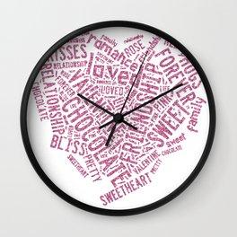 Pink faux glitter lov Wall Clock
