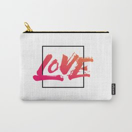 Love overflowing - Handmade Lettering Carry-All Pouch
