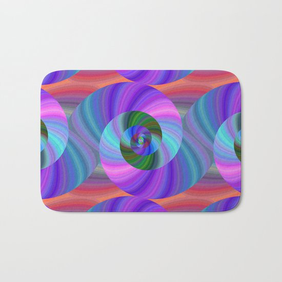 Metallic swirls Bath Mat