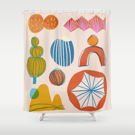 Abstraction_Nature_Element_01 Shower Curtain