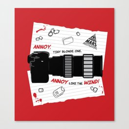 Annoy Tiny Blonde One...  Canvas Print