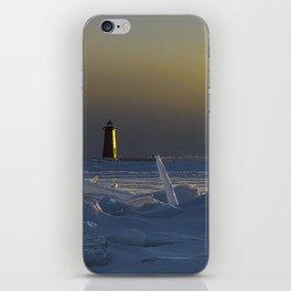 Manistique Lighthouse Sun Dog iPhone Skin
