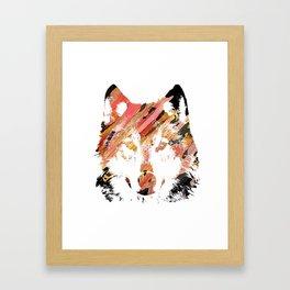 Color Wolf Framed Art Print