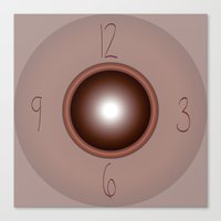 wall clock Canvas Prints featuring wall clock by Christian Haberäcker - acryl abstract