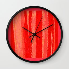 Red Hot Cactus Wall Clock