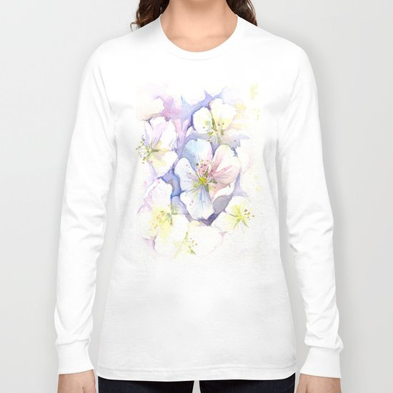 Cherry Blossoms Flowers Spring Floral Long Sleeve T-shirt
