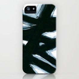 Black & White Abstract Modern Art II iPhone Case