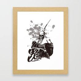 KENSHIN UESUGI Framed Art Print