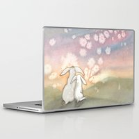 fairies Laptop & iPad Skins featuring Sunset Fairies by Bluedogrose