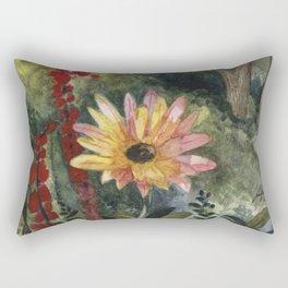 Vibrant Blossom Rectangular Pillow