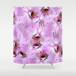 Plum Orchids Shower Curtain