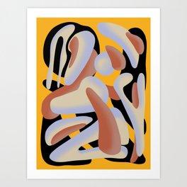'Round Midnight- Yellow Art Print