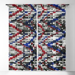 Clinically Proven (P/D3 Glitch Collage Studies) Blackout Curtain
