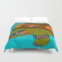 tortoise Duvet Covers featuring Tortoise by subpatch