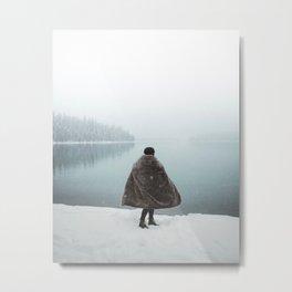 Dancing in the Snow Metal Print