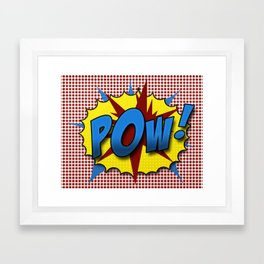 Pop Art Pow in comic Lichtenstein style Framed Art Print