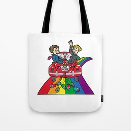 JUST MARRIED Gay Marriage Queer Homo LGBT Tote Bag