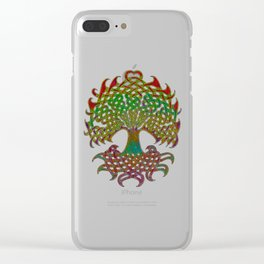 Celtic Knot Tree of Life Clear iPhone Case