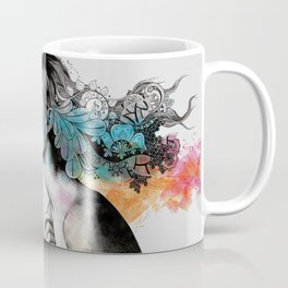 Moral Eclipse II (portrait of woman with doodles sketch) Coffee Mug