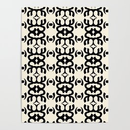 Namaste Symbol Abstract Pattern Poster