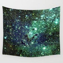 Green Eagle Nebula / Pillars of Creation Wall Tapestry