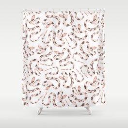 Garden Snake | Pale Pink Shower Curtain