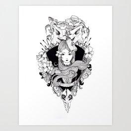 calavera lady Art Print