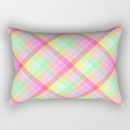 Pastel Rainbow Tablecloth Diagonal Check Rectangular Pillow