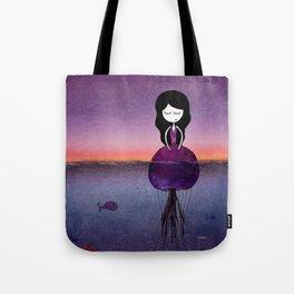 Jellyfish girl Tote Bag