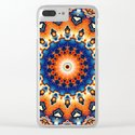 Geometric Orange And Blue Symmetry by perkinsdesigns