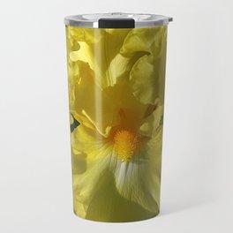 Golden Iris flower - 'Power of One' Travel Mug