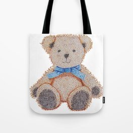 Stippled Teddy Bear  Tote Bag