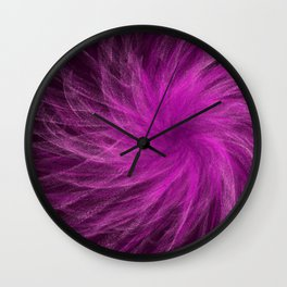 Lavender Spiral3 Wall Clock