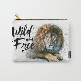 Lion Wild and Free Carry-All Pouch