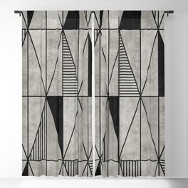 Concrete Triangles Blackout Curtain