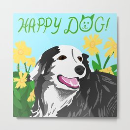 Happy Dog - Sophie the Border Collie Metal Print