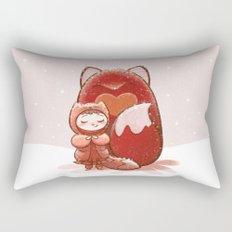 Fox Girl Rectangular Pillow